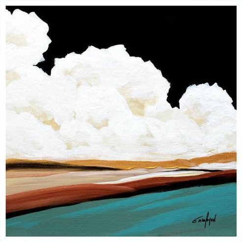 cloud abstract art print