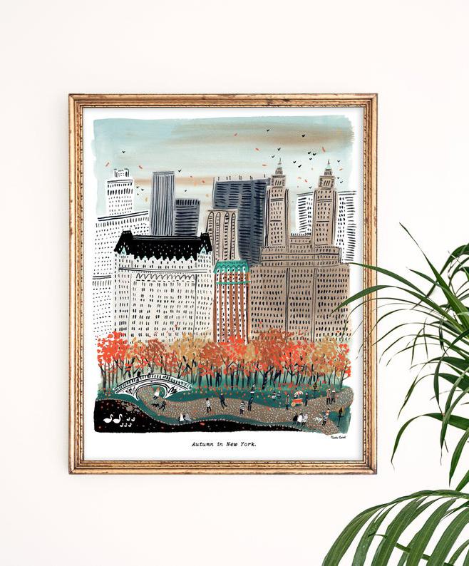 autumn in new york art print