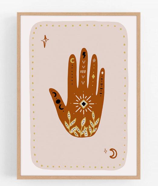 hand boho art print