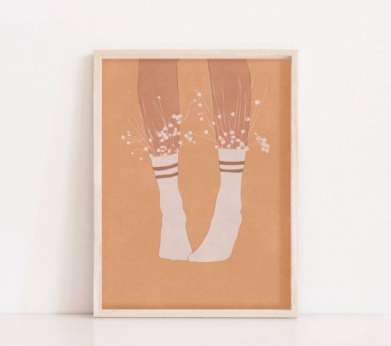 boho art print etsy