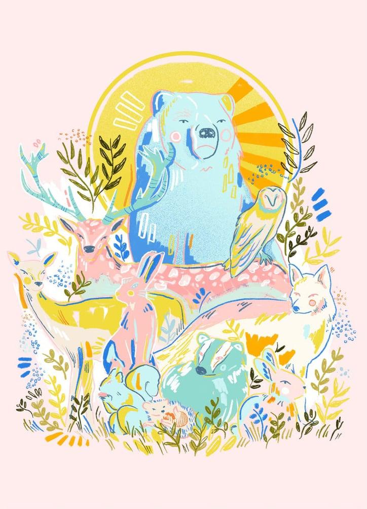 illustration art print etsy