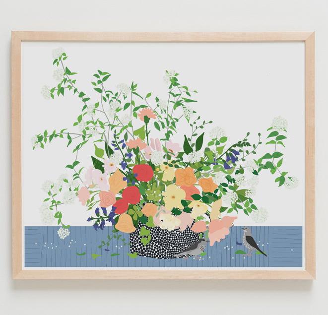 flower art print etsy