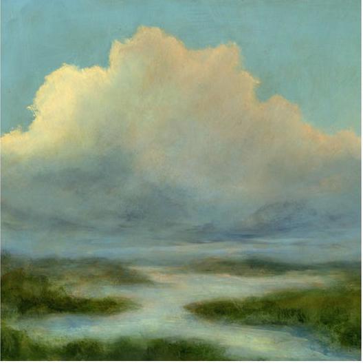 cloud landscape art print etsy