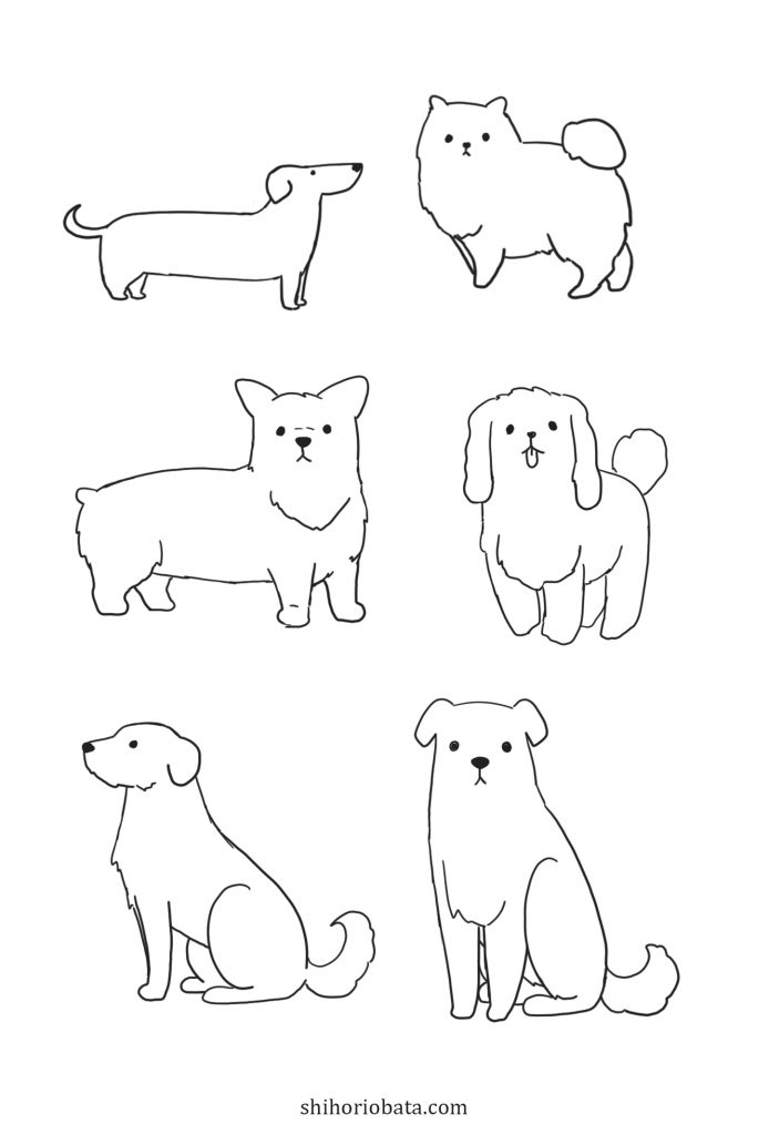 more easy dog drawings to draw