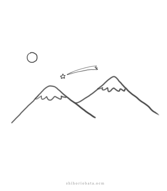 easy mountain drawing ideas