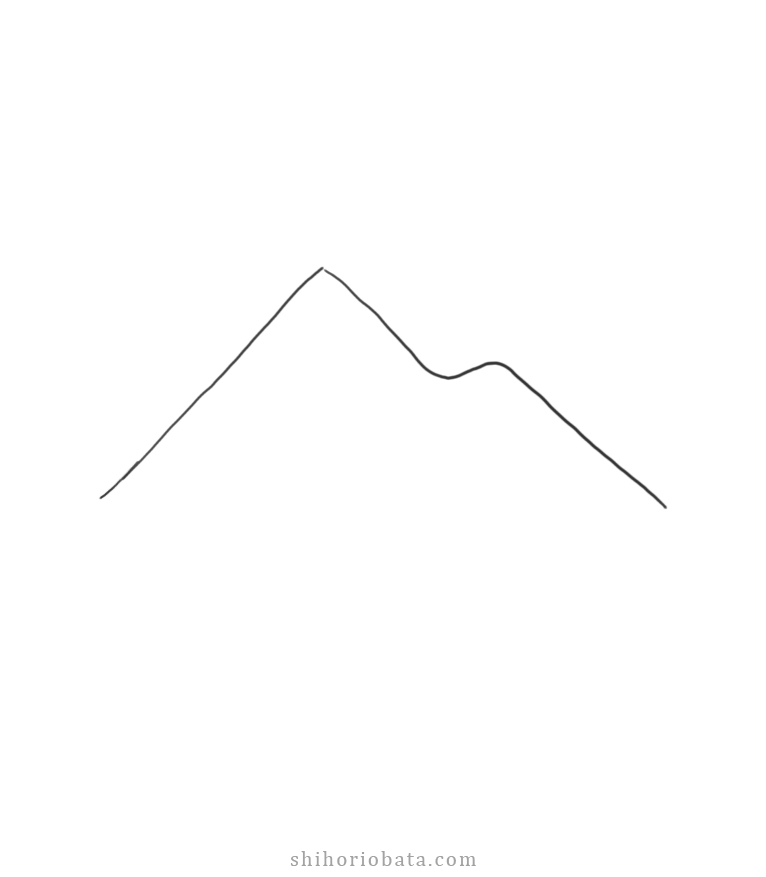 how to draw mountains step 1