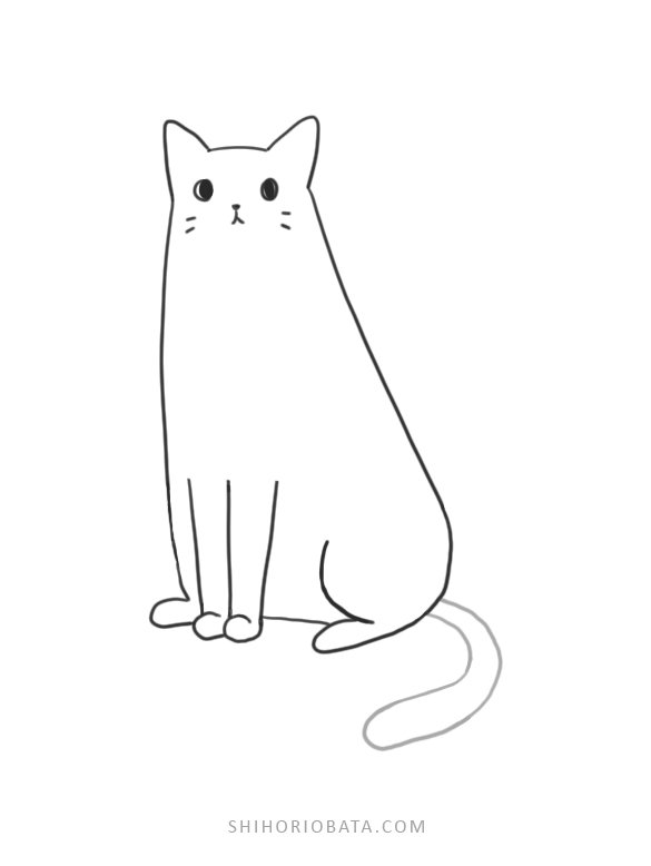 cat drawing easy