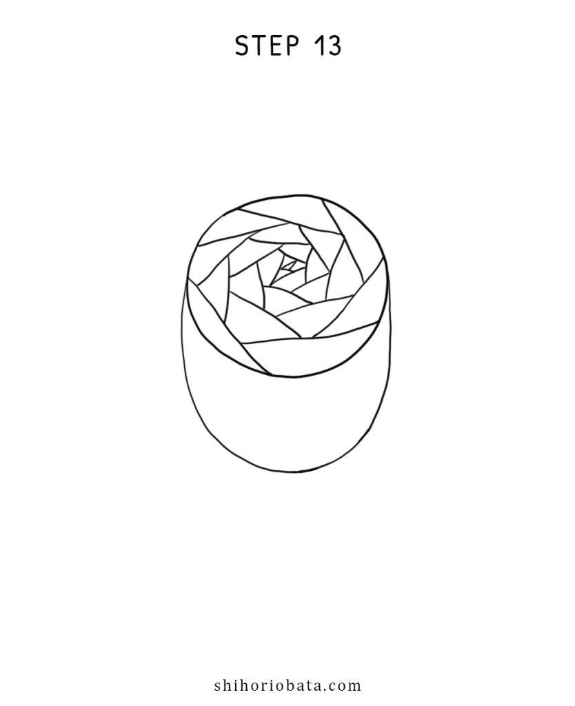 step 13 rose drawing