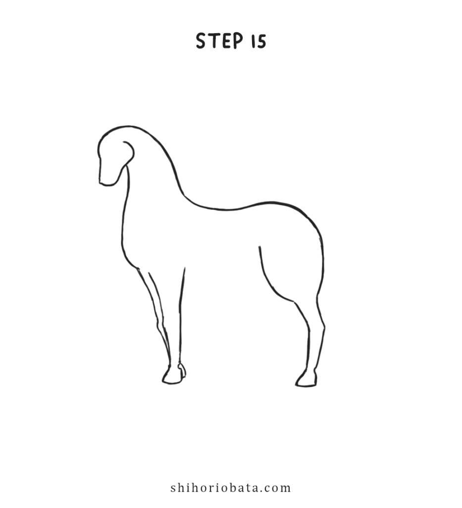 how to draw unicorn beginners