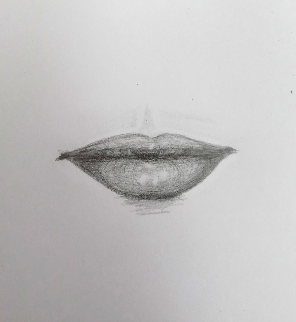 how to draw lips step by step