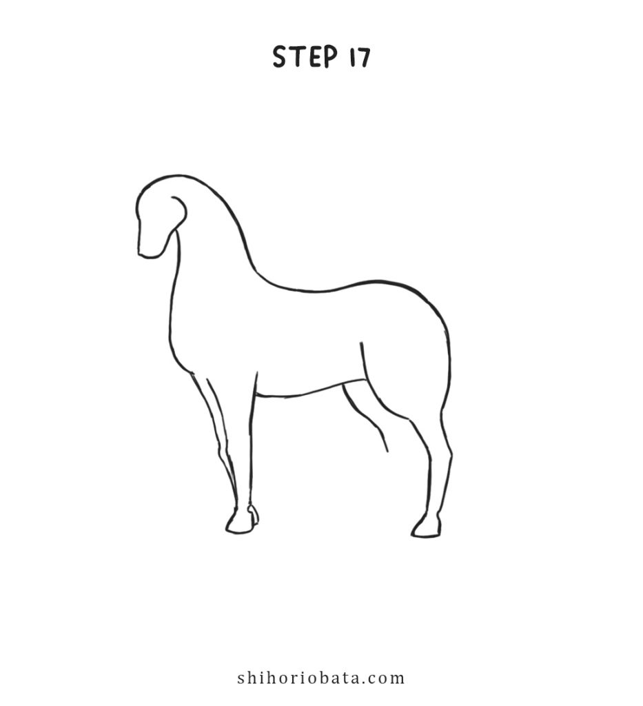 unicorn drawing step by step