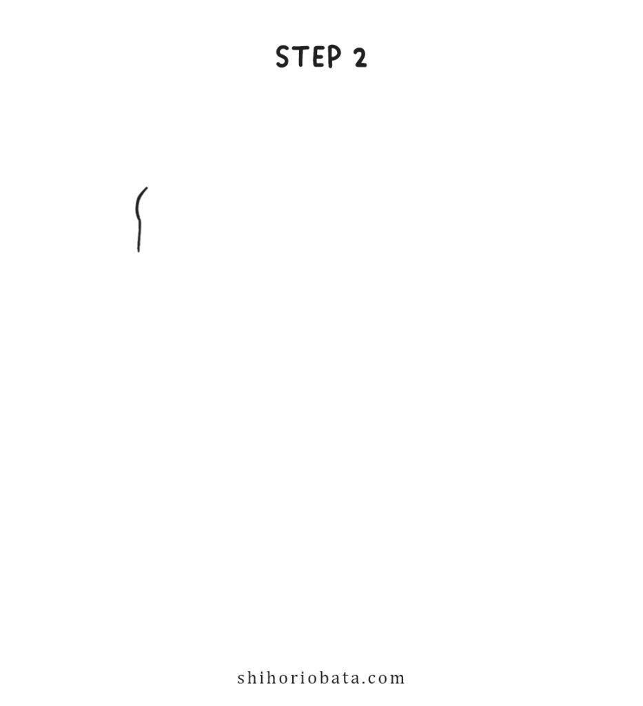unicorn drawing step 2
