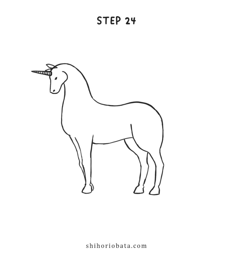 unicorn drawing step