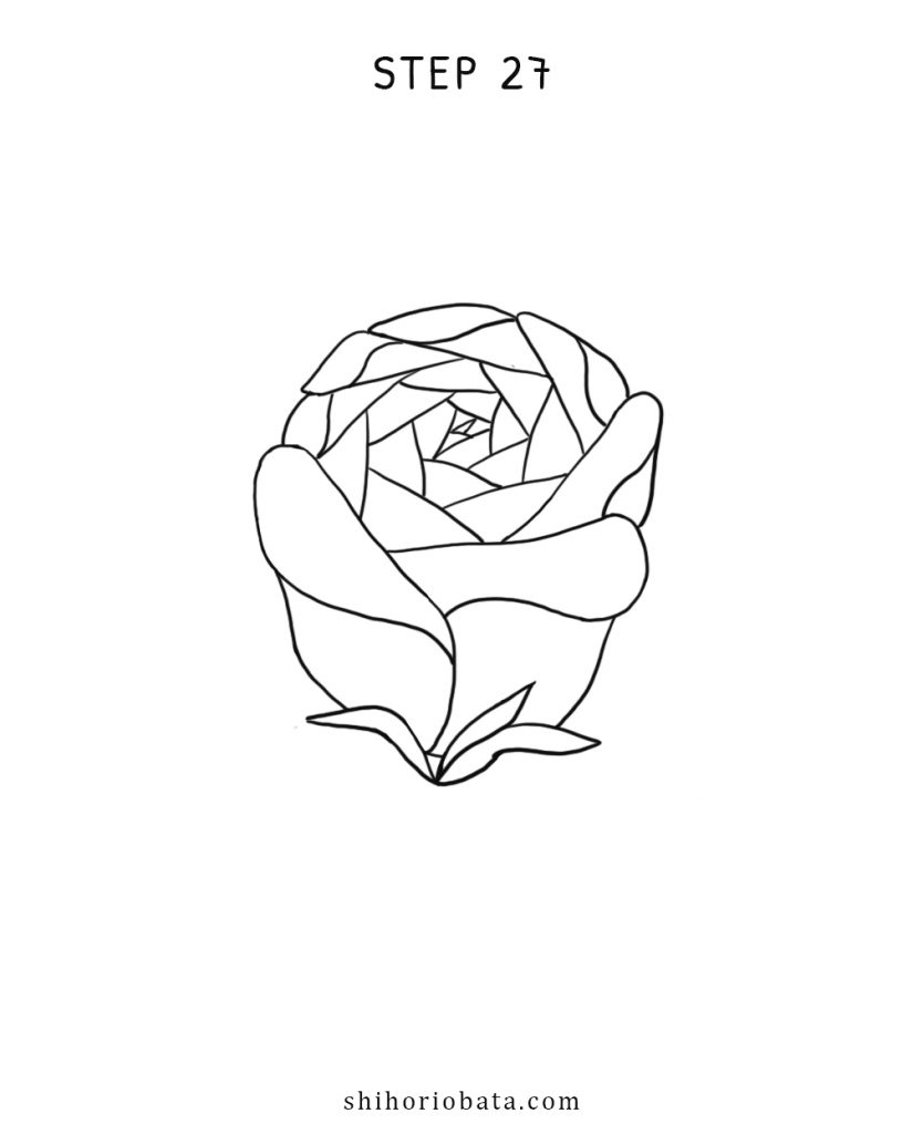 simple how to draw rose