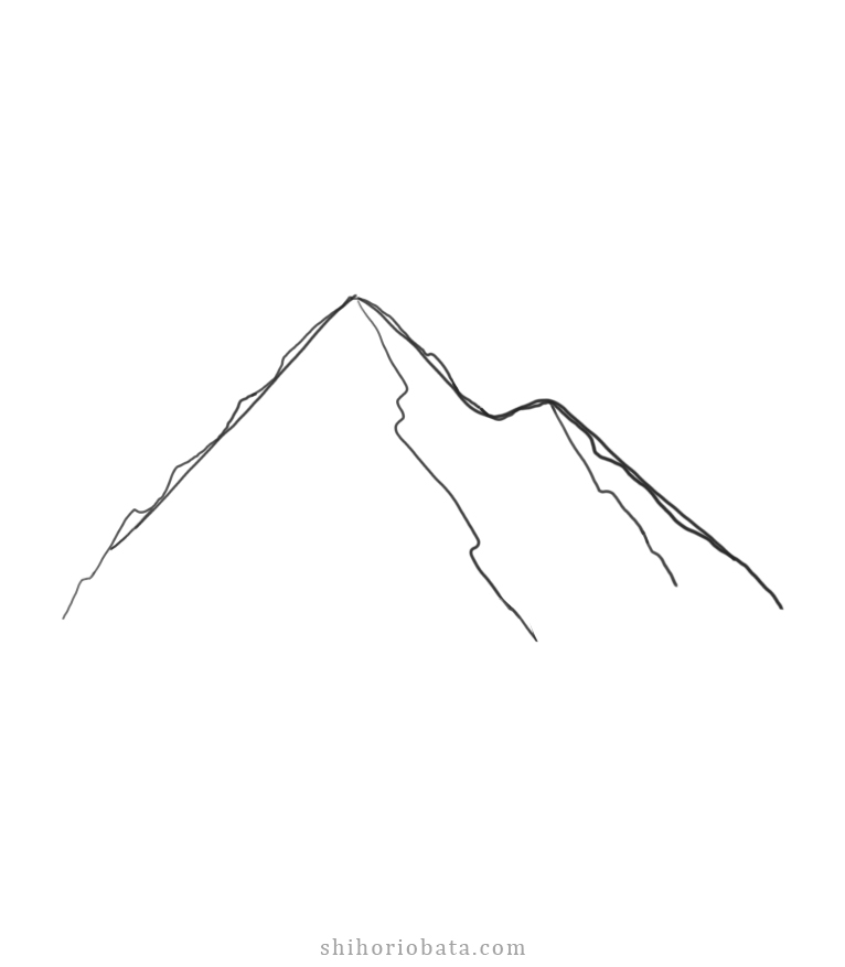 easy mountain drawing