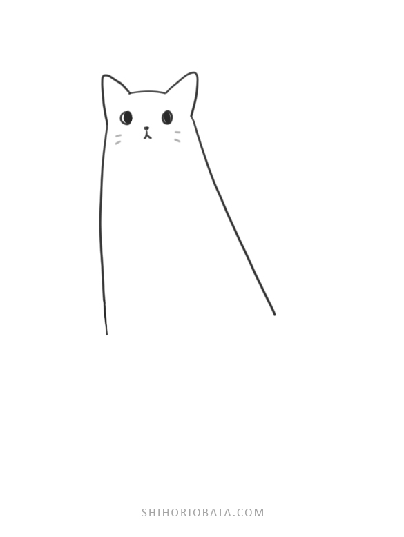 easy cat drawing