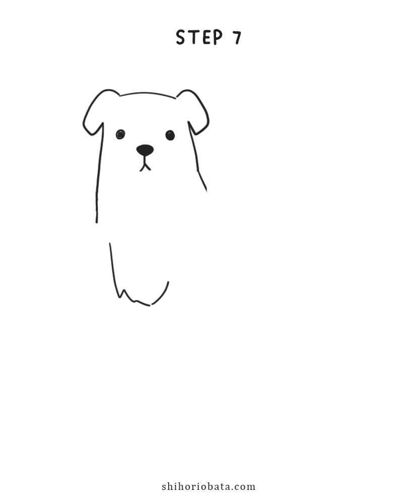 how to draw dog