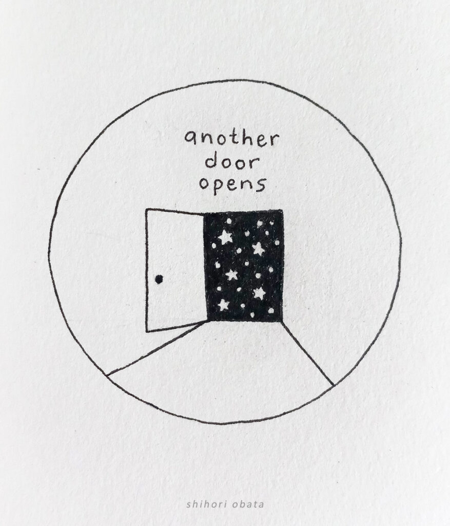 another door opens drawing
