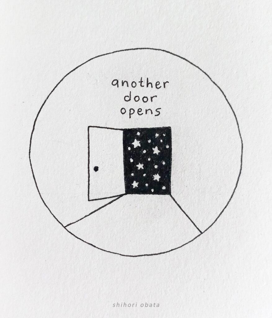 another door opens drawing