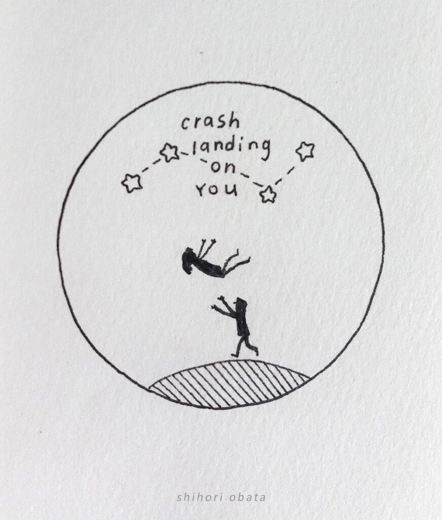 crash landing on you drawing