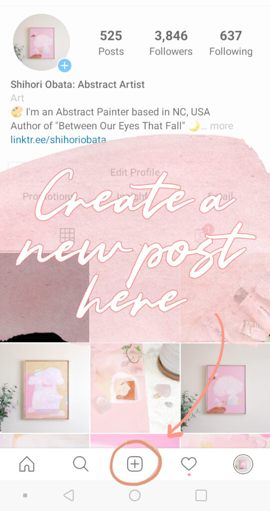 how to add new post instagram art