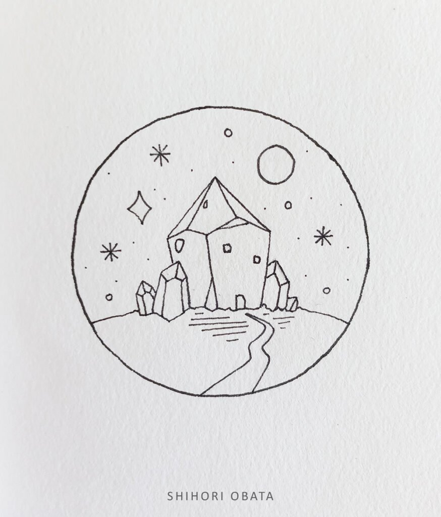 crystal house drawing
