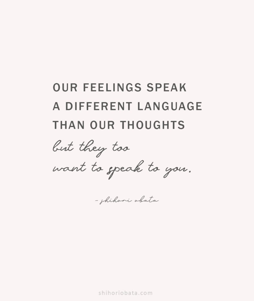 feelings speak a different language quote anxiety