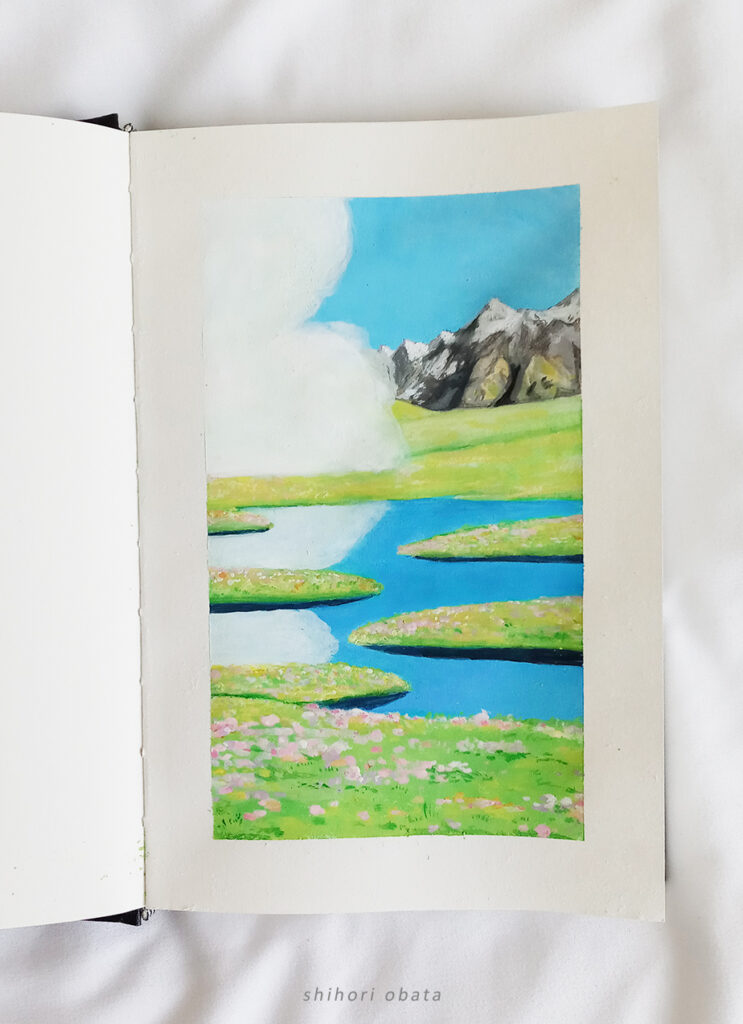 studio ghibli painting gouache himi