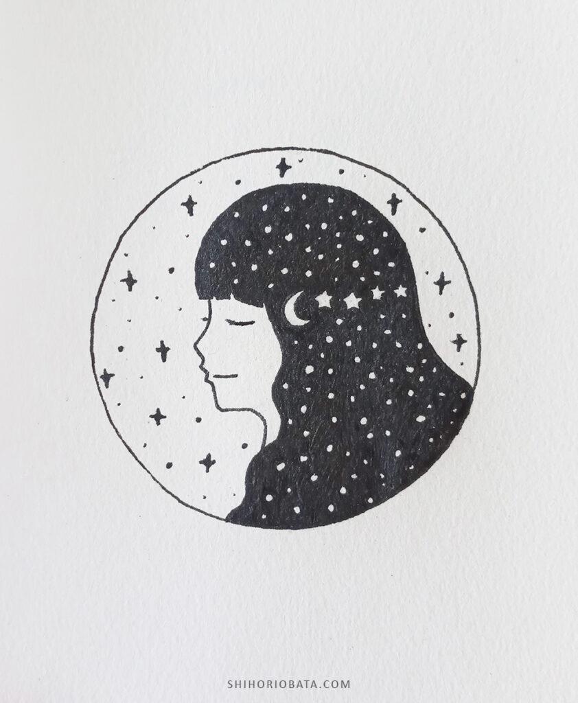 easy circle drawing girl
