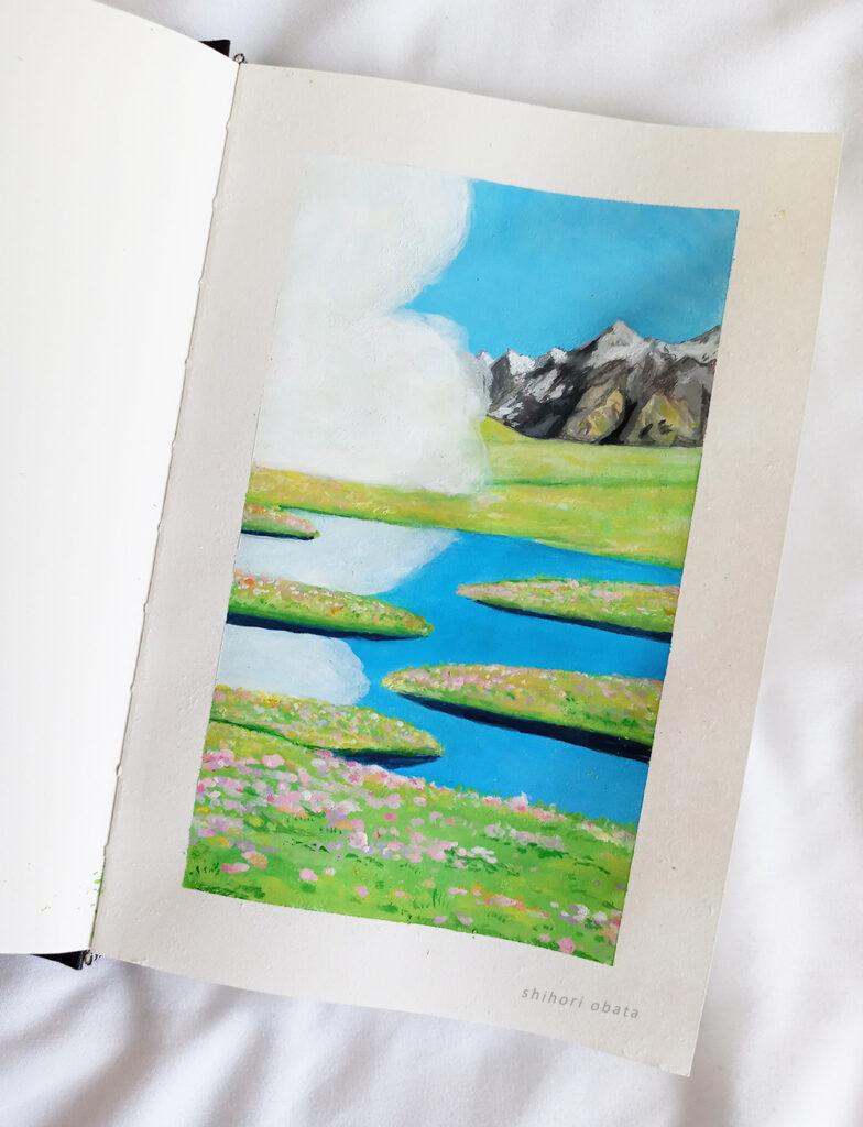 himi gouache painting