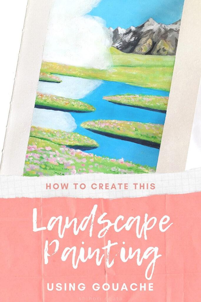 how to paint landscape using gouache studio ghibli