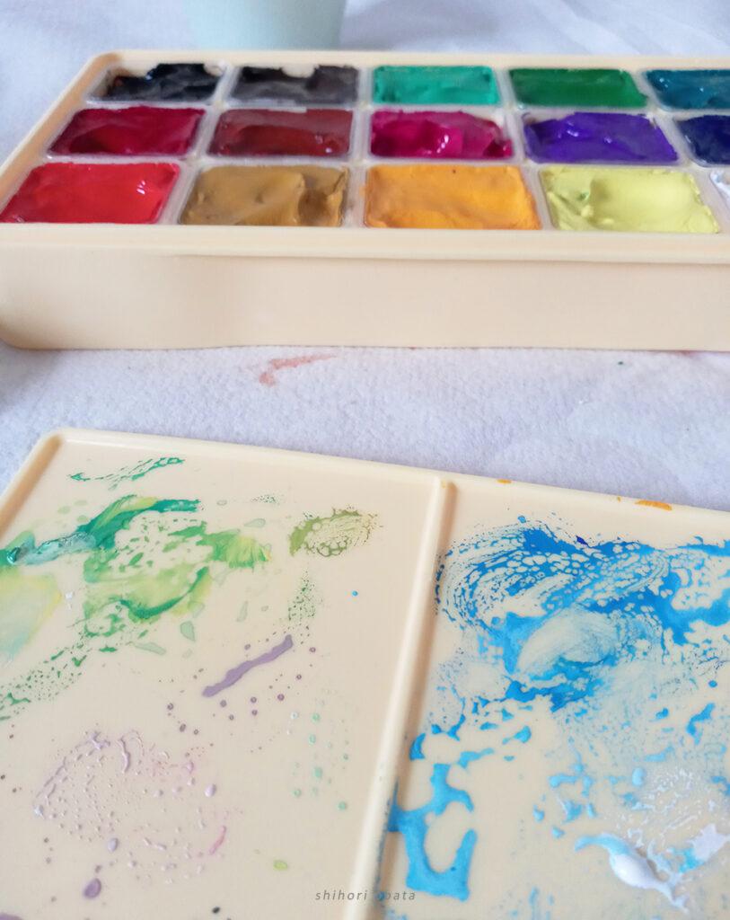 mixing palette gouache
