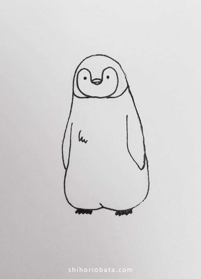 easy penguin drawing