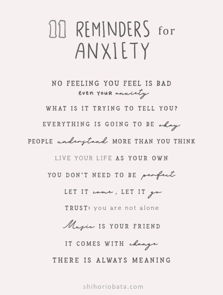 reminders for anxiety quote