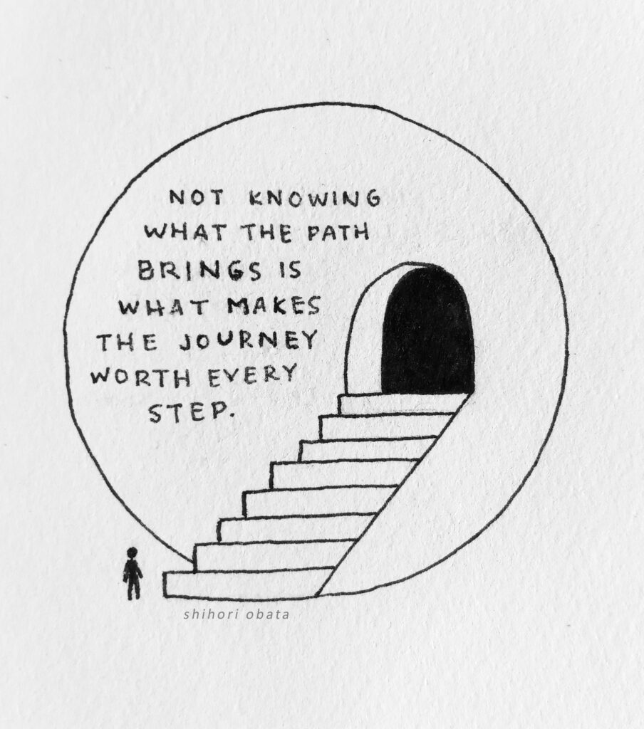 staircase easy circle drawing quote