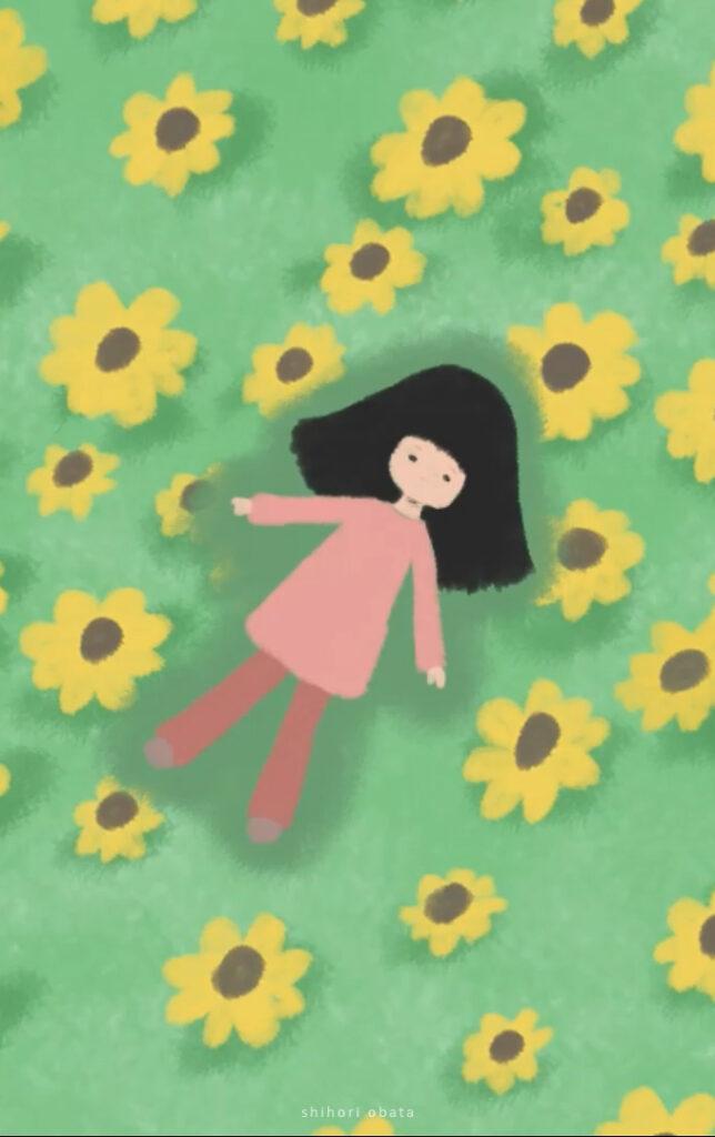 drawing field of flowers shihori obata animation