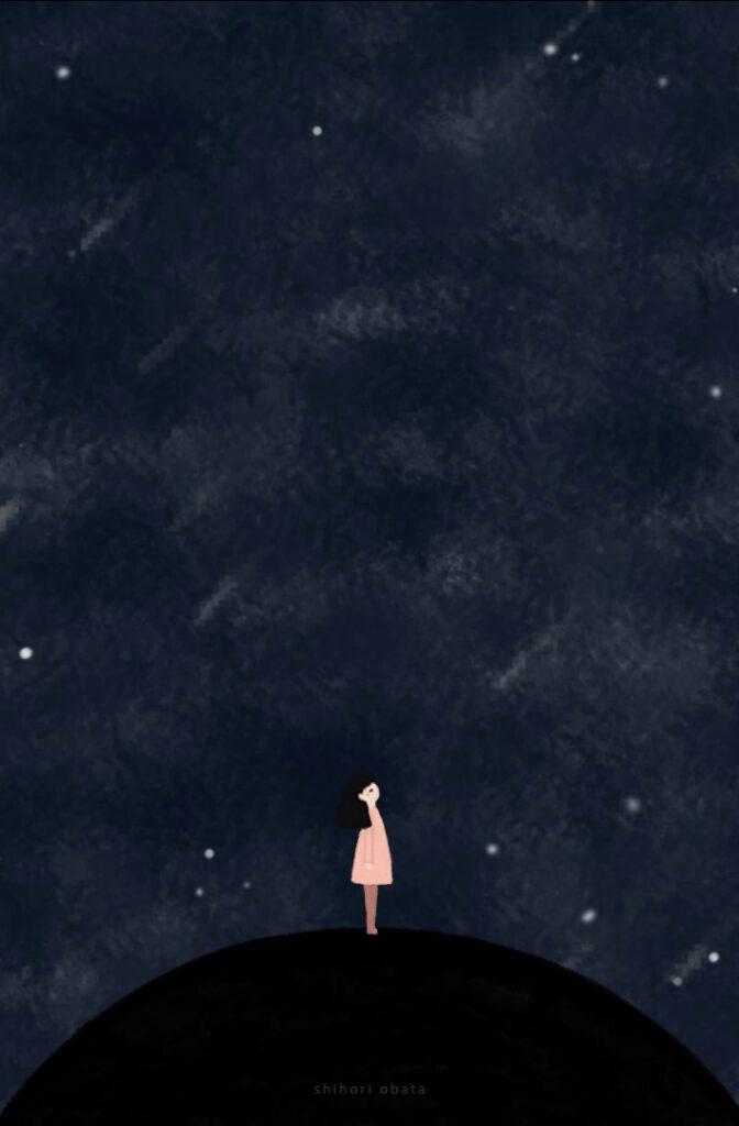 night sky shihori obata drawing art