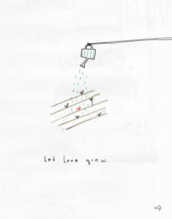 Let love grow drawing