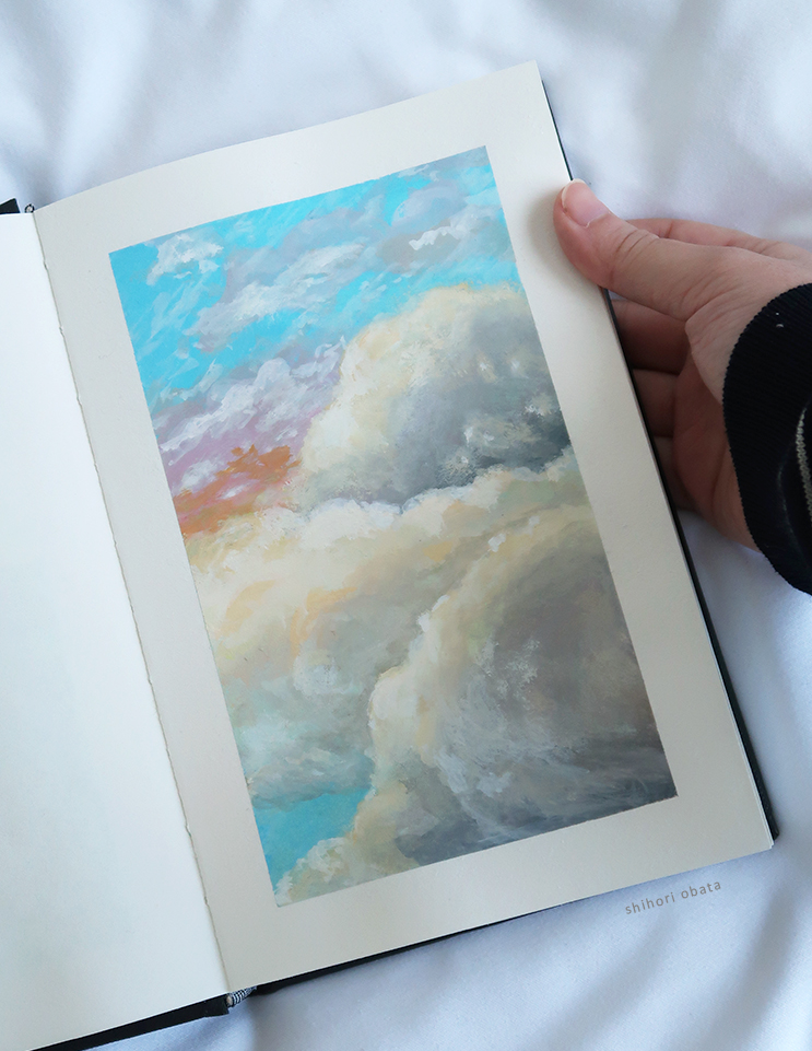 easy painting clouds