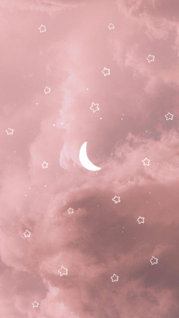aesthetic moon stars phone background