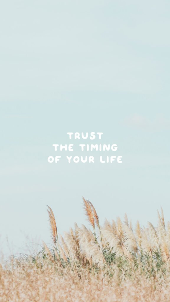 trust the timing of your life phone wallpaper quotes