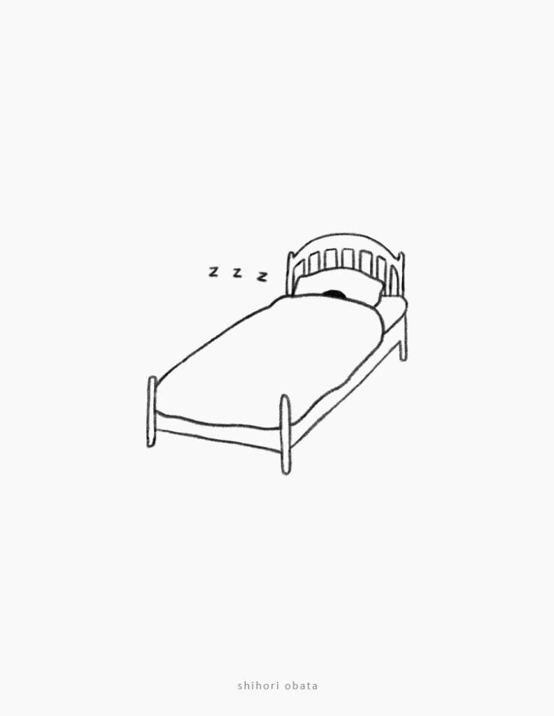 sleeping bed drawing easy