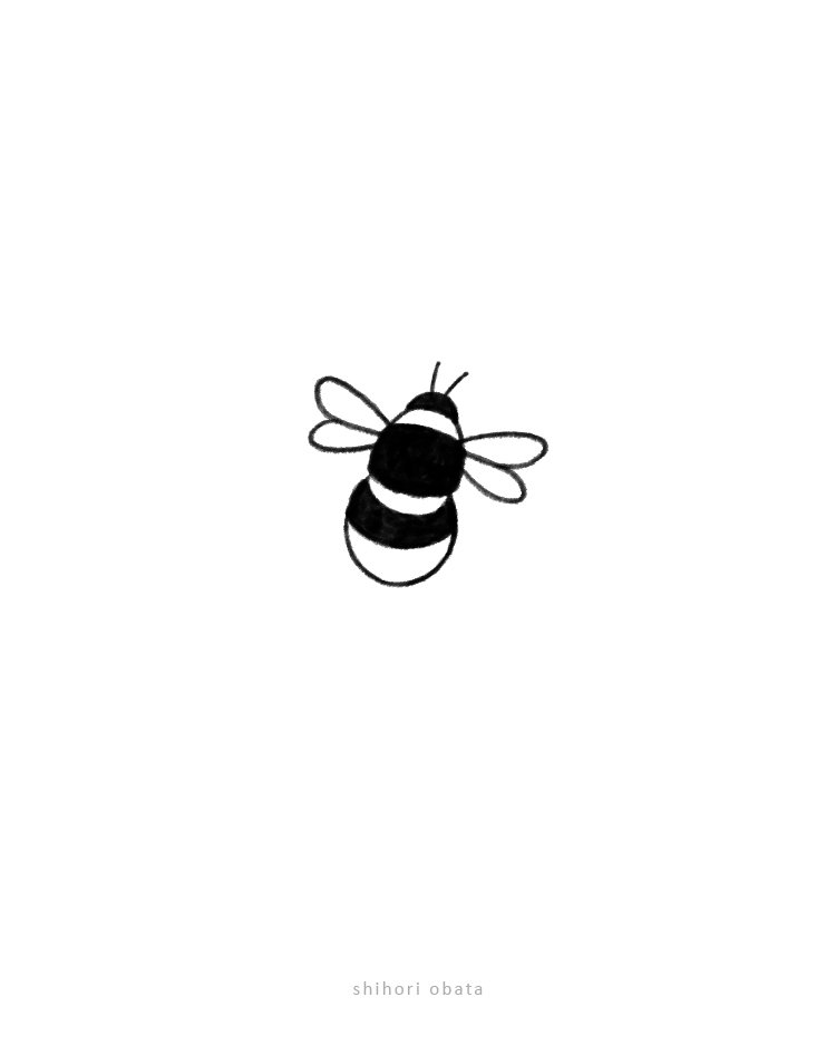 how to draw a bee simple