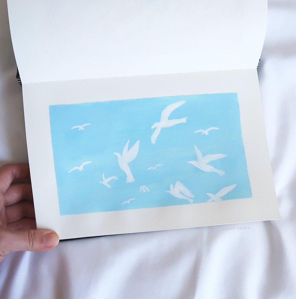 easy bird painting