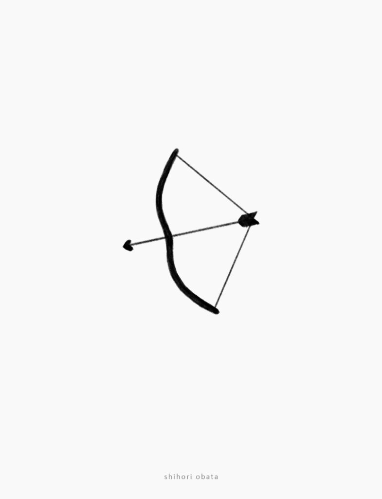 bow and arrow drawing