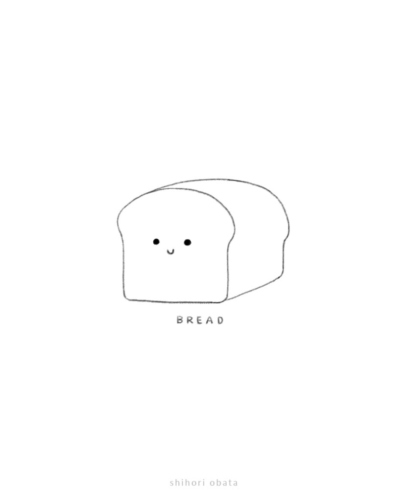 easy things to draw bread