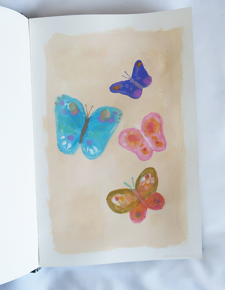 easy butterfly painting