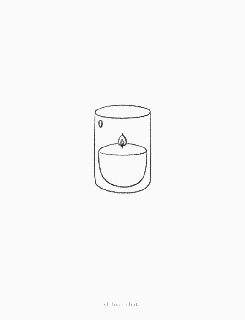 candle drawing easy thing to draw