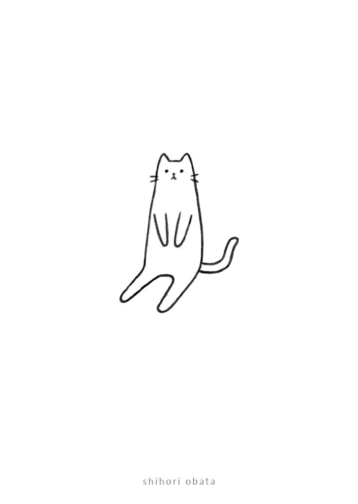 cat drawing easy art