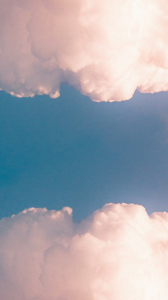 aesthetic phone background clouds